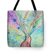 Floral Stream Tote Bag