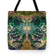 Floral Synapse 2 Tote Bag