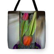 Floral Table Piece Tote Bag