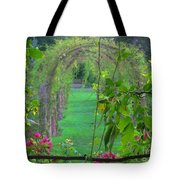 Floral Window Tote Bag