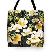 Floral Yellow Tote Bag