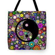 Floral Yin Yang Tote Bag by Tim Gainey