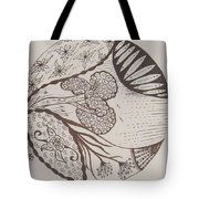 Floral Zen Tangle  Tote Bag
