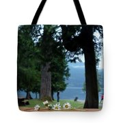 Floral's At The Lake  Tote Bag