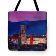 Florence Skyline Italy With Santa Maria Del Fiore Tote Bag