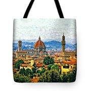 Florence Watercolor Tote Bag
