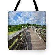 Florida Boardwalk Tote Bag