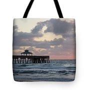 Florida Fishing Pier Tote Bag