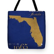 Florida International University Panthers Miami College Town State Map Poster Series No 038 Tote Bag