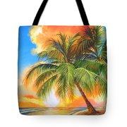 Florida Palm Sunset Tote Bag