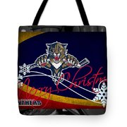Florida Panthers Christmas Tote Bag