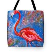 Florida Pink Flamingo - Modern Impressionist Art Tote Bag