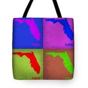 Florida Pop Art Map 1 Tote Bag