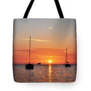 Florida Sailboat Sunset Tote Bag