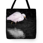Florida Snow In Black And White Tote Bag
