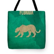 Florida State Facts Minimalist Movie Poster Art  Tote Bag by Design Turnpike