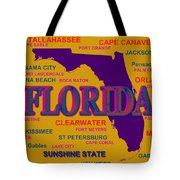 Florida State Pride Map Silhouette  Tote Bag