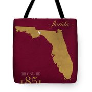 Florida State University Seminoles Tallahassee Florida Town State Map Poster Series No 039 Tote Bag