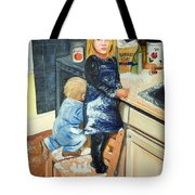 Flour Fight Tote Bag