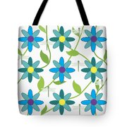 Flower And Dragonfly Design With White Background Tote Bag