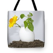 Flower And Egg Tote Bag