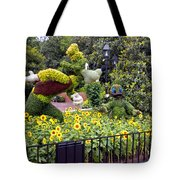 Flower And Garden Signage Walt Disney World Tote Bag