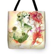 Flower And Leaf Tote Bag