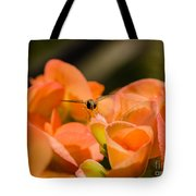 Flower And Ready To Fly Tote Bag