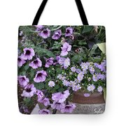 Flower Barrel Tote Bag