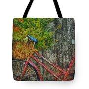 Flower Basket On A Bike Tote Bag