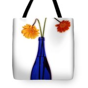 Flower Blues Tote Bag