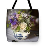 Flower Bouquet In A Teapot Tote Bag