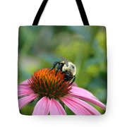 Flower Bumble Bee Tote Bag