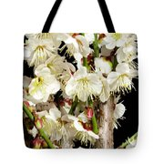 Flower Bunch Bush White Cream Strands Sensual Exotic Valentine's Day Gifts Tote Bag