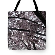 Flower Canopy And Sky Tote Bag