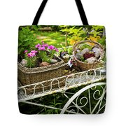 Flower Cart In Garden Tote Bag