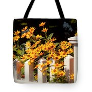 Flower - Coreopsis - The Warmth Of Summer Tote Bag by Mike Savad