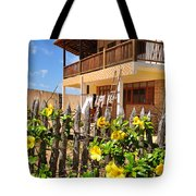 Flower Fence For A Beach Loft In Jeri Tote Bag