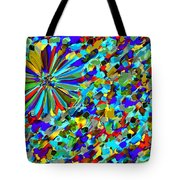 Flower Fight Abstract Tote Bag