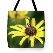 Flower Fly And Yellow Flowers Tote Bag