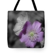 Flower Friends In Black And White Tote Bag