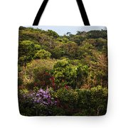 Flower Garden On A Hill Tote Bag