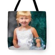 Watercolor Flower Girl Tote Bag