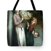 Flower Girls A Summer Night Tote Bag by Augustus Edwin Mulready