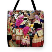 Flower Hmong Girl 01 Tote Bag