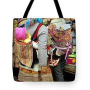 Flower Hmong Mothers And Babies Tote Bag