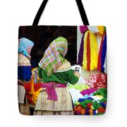 Flower Hmong Wool Stall Tote Bag