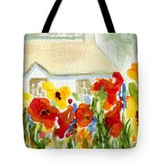 Flower House Tote Bag