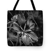 Flower In B-w Tote Bag