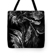 Flower In Black-and-white Tote Bag